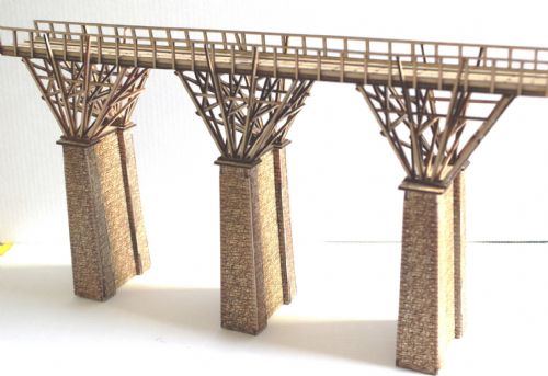 ARCHN0030 Arch Laser Brunel Timber Viaduct (modular) kit: 300mm deck length